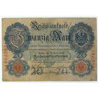Германия, 20 марок 1910 год.