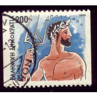 1 марка 1986 год Греция Посейдон 1617