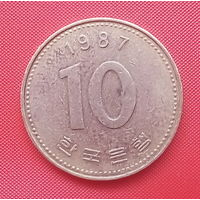 62-35 Южная Корея, 10 вон 1987 г.