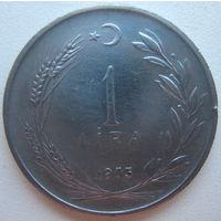 Турция 1 лира 1975 г. (d)