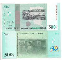 Конго 500 франков образца 2010 года UNC P100