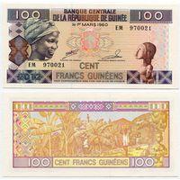 Гвинея. 100 франков (образца 2012 года, P35b, UNC)