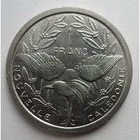"""Новая Каледония 1 франк 1981 """"Кагу - длинноногая светло-серая птица, Минерва - богиня мудрости"""""""