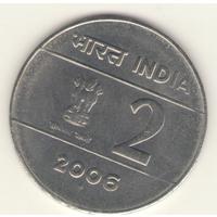 2 рупии 2006 г. МД: Бомбей.