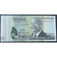 Камбоджа. 2000 риелей 2013 [UNC]