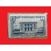 Марка Архитектура 1933 год Мартиника