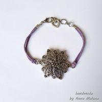 Браслет мини Цветок (фиолетовый)