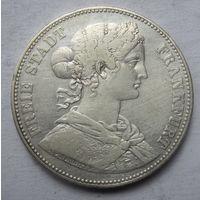 Германия, Франкфурт, талер, 1865, серебро