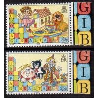 Гибралтар. Рождество и Новый год. Детские игрушки. Европа EUROPA. 1988 год **