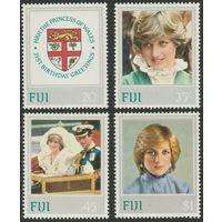 1982 Фиджи 464-467 21 год рождения принцессы Дианы 6,00евро