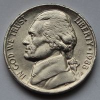 США, 5 центов 1988 г. Р