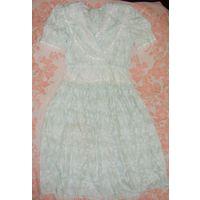 Платье Scott McClintock с гипюром и кружевами р.50
