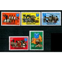 Руанда - 1973г. - Национальная гвардия с надпечаткой - полная серия, MNH [Mi 599-603] - 3 марки