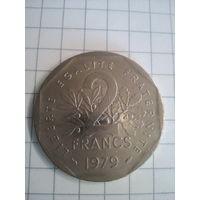 2 франка 1979г, Франция