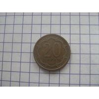 Таджикистан 20 дирам 2006г.km4.2