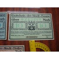 Германия  10 марок 1918 Нотгельд