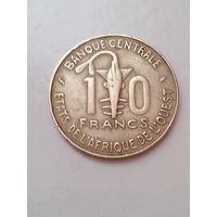 10 франков 1987 год. Западная Африка.