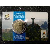 2 евро Бельгия  2016 г. Олимпийская сборная Бельгии