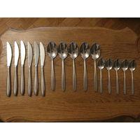 Столовые приборы 5 ложек + 6 ножей + 5 чайных ложек TSM 18/10 Германия.