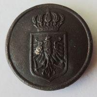"""Пуговица """"Пруссия чиновник"""" времён первой мировой."""