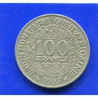 Западная Африка 100 франков 1987