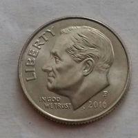 10 центов (дайм) США 2016 P, AU