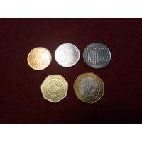 Иордания набор монет 2009-12г.