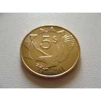 "Намибия. 5 долларов 2012 год KM#5   ""Фауна"" ""Орел"""