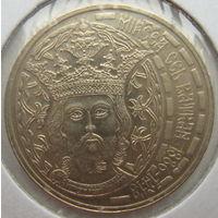 Румыния 50 бани 2011 г. 625 лет началу правления Короля Мирчи Старого. В холдере