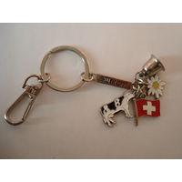 Брелок для ключей с колокольчиком. Швейцария.