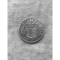 Новая Зеландия 1/2 кроны 1937 г.