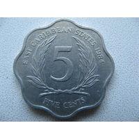 Восточные Карибы 5 центов 1984 г.