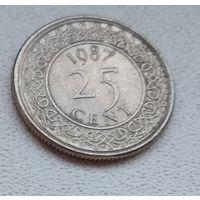 Суринам 25 центов, 1987 6-11-34