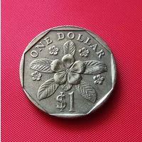 24-04 Сингапур, 1 доллар 1989 г. Единственное предложение монеты данного года на АУ