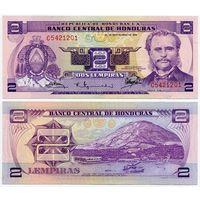Гондурас. 2 лемпиры (образца 1976 года, P61, UNC)