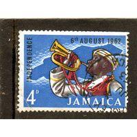 Ямайка.Ми-195.День независимости 6 августа 1962.Зуав-горнист и карта Ямайки.1962.