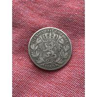 Бельгия 5 франков 1869 г.