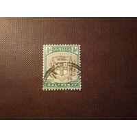 Британская Ямайка 1905 г. Герб колонии.