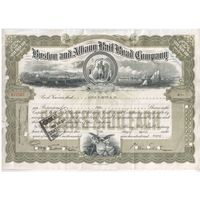 Прошлый век!!!  Бостон и Олбани (железнодорожная компания)  10 долларов от 30 апреля 1940 года
