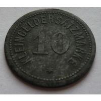 Германия. 10 пфеннигов 1917г.DARMSTADT