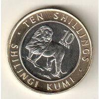 Кения 10 шиллинг 2018