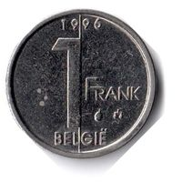 Бельгия. 1 франк. 1996 г. BELGIE
