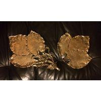 Накладка, Декор, Декоративные элементы Листья Лист Латунь/бронза