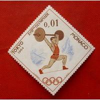Монако. Спорт. ( 1 марка ) 1964 года.