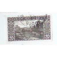 Мост в Мостаре. Австрийская оккупации Боснии и Герцеговины.  Дата выпуска:1910-08-18