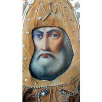 Икона Святителя Митрофана Воронежского. 19 век. Супер.