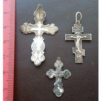 3 серебряных крестика, с 10 копеек!
