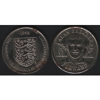 Official England Squad. Forward. Alan Shearer -- 1998 - The Official England Squad Medal Collection (f04)