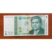 Таджикистан. 1 сомони (образца 1999 года) AV