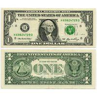 США. 1 доллар (образца 2006 года, H, Миссури, P523)